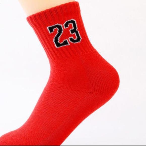 ce4700734750 Socks  23 Red White Sport Foot Basketball Jordan
